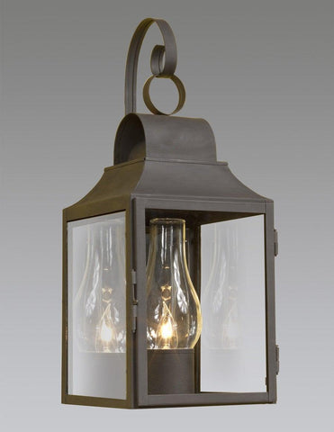 One Light Round Top Lantern With Hook LEWM-14A