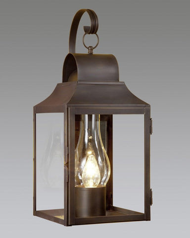 Brass Round Top Lantern With Hook LEWM-14B