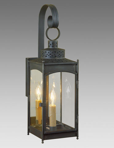 Square Punch Top Lantern With Hook Backplate LEWM-26