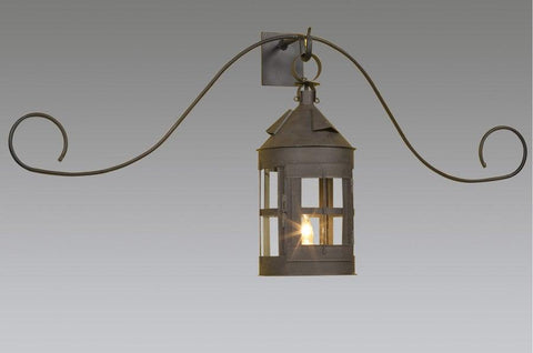 Curled Bracket Wall Mount Ship Lantern LEWM-29