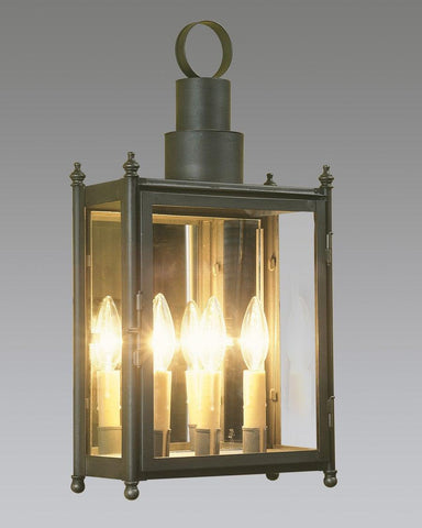 Tiered Top With Finials Wall Mount Lantern LEWM-30