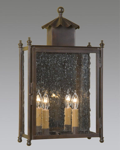 Rectangular Ruffled Covered Top Chinoiserie Style Lantern LEWM-37