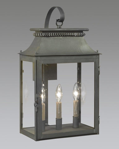 Three Light With Back Plate And Hook Wall Mount Cut Out Lantern LEWM-3