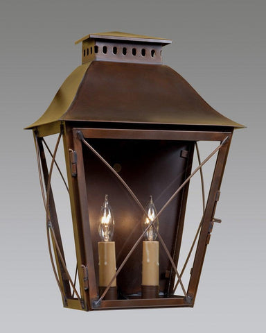 Two Light With Criss Cross Design Lantern LEWM-40B