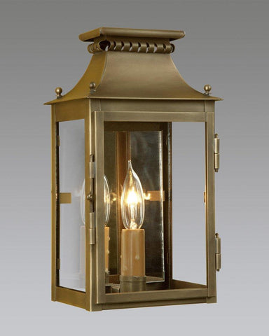Brass One Light Mirror Back Cut Out Lantern LEWM-44A
