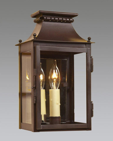 One Light Mirror Back Cut Out Lantern LEWM-44B