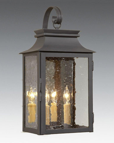"Station Lantern With Hook (18.5""H) LEWM-51"