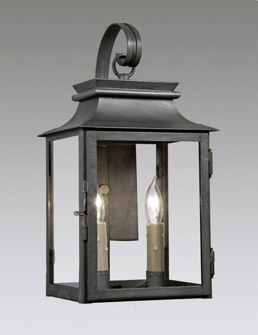 Two Light Station Lantern With Shepards Hook LEWM-53
