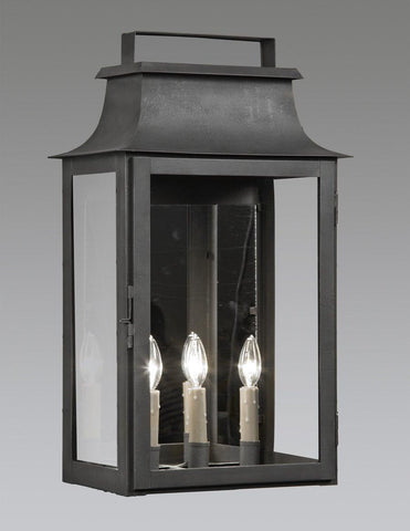 Mirror Back Three Light Wall Mount Top Handle Lantern LEWM-56