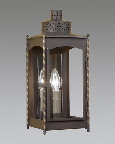Mirror Back Square Punch Top Lantern LEWM-57