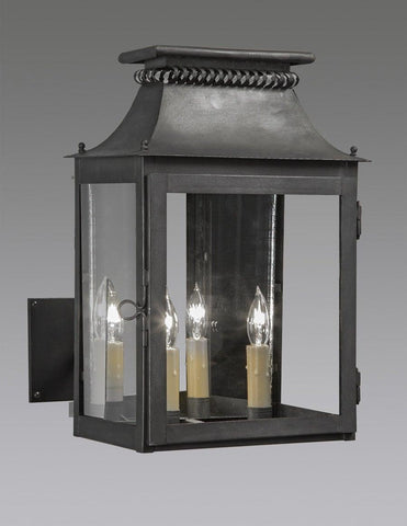 Cut Out Design Lantern With Custom Extended Wall Bracket LEWM 60