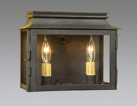 Two Light Horizontal Station Lantern With Open Bottom LEWM-65