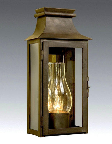 Mirror Back And Glass Shade Station Lantern LEWM-70