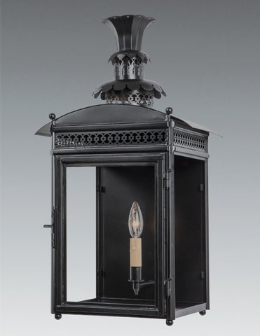 Decorative Top and Pierced Gallery Design Lantern With Finials LEWM-72