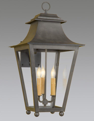 Tapered Design Lantern With Top Loop And Ball Feet LEWM-82