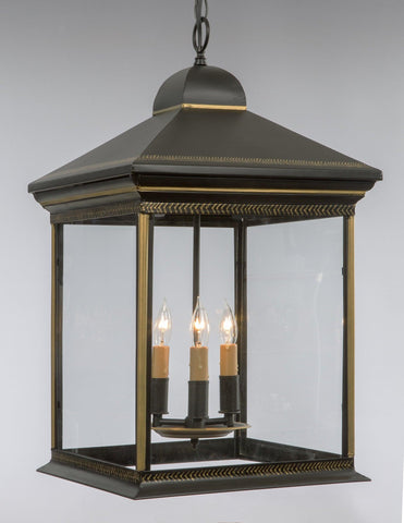Tole Lantern With Handpainted Gold Decoration LL-30A