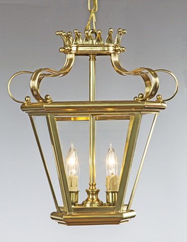 Crown Top Two Light Lantern LL-561
