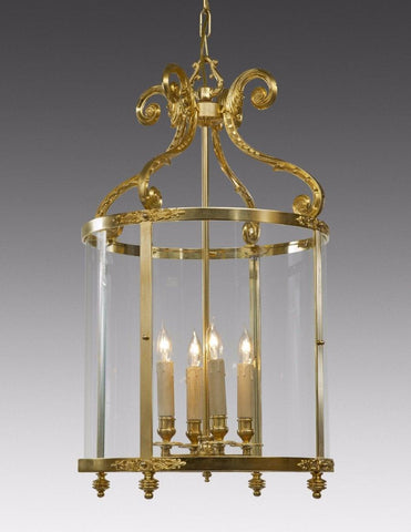 Scroll Leaf Arm Lantern With Decoration LL-78