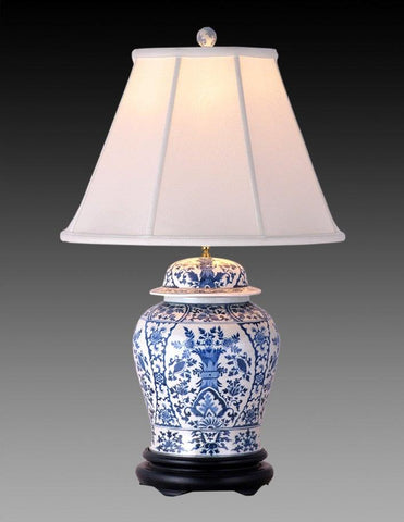 Porcelain Style Blue And White Lamp LPT 2