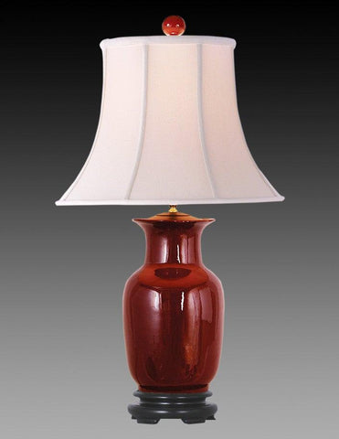 Porcelain Style Ox-Blood Design Lamp LPT-23