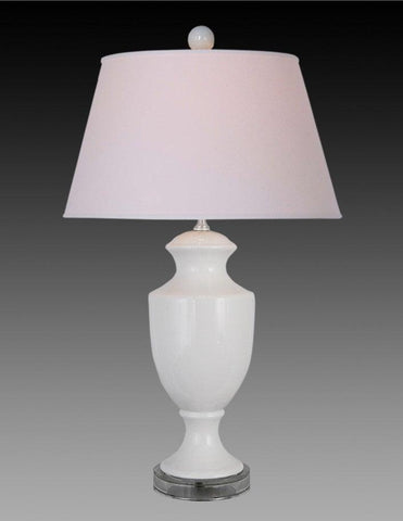 White Lamp With Glass Base LPT-36