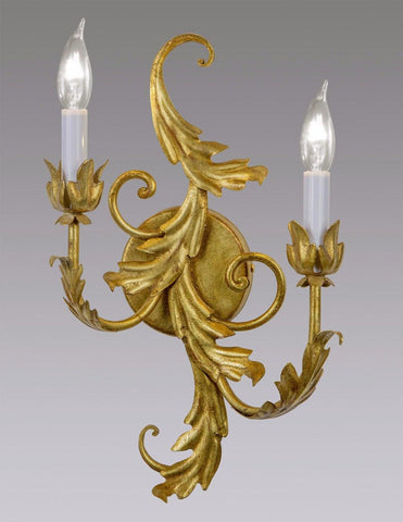Metal Scroll Leaf Design Sconce LSFI-115