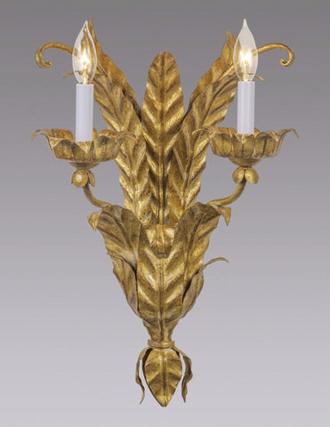 Metal Leaf Design Sconce With Raised Arms LSFI-116
