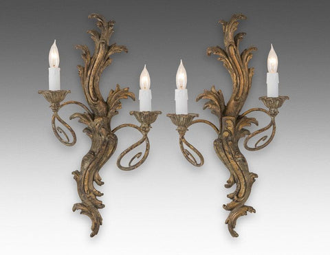 Scroll Leaf Design Sconce LSFI-126