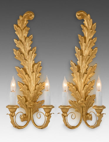 Curved Leaf Design Sconce LSFI-128