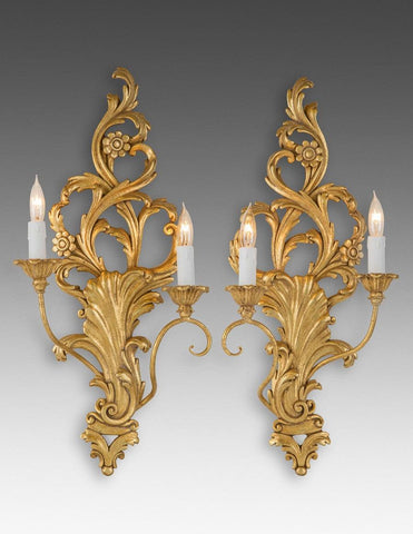 Scroll Leaf And Flower Design Sconce LSFI-129