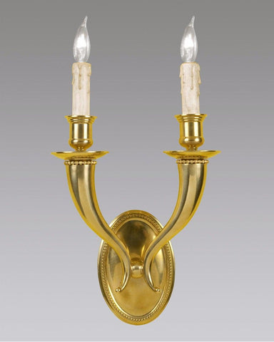 Oval Back Bead Design Sconce LSFI-15