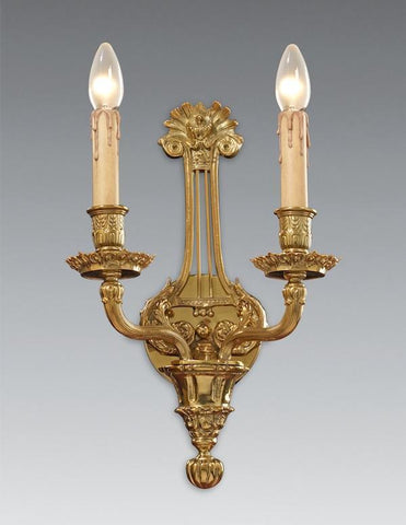 Empire Style Two Light Sconce with intricate detailing LSFI-167