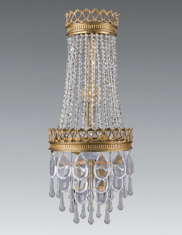 Empire Style 2-Light Crystal Sconce LSFI-172