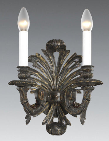 Pierced Metal and Leaf Design 2-Light Sconce LSFI-174
