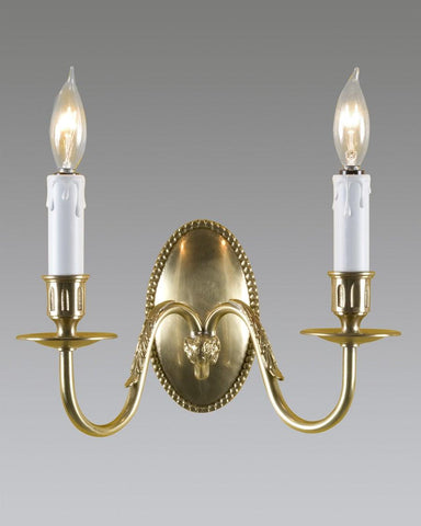 Oval Back Rams Head Sconce LSFI-20A