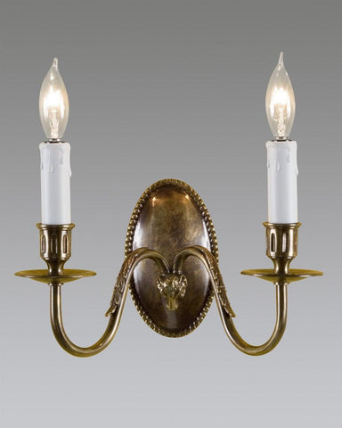 Oval Back Rams Head Sconce LSFI-20B