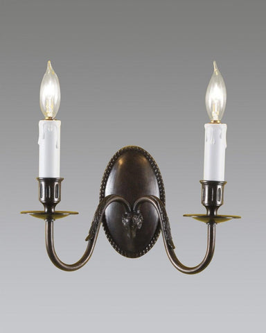 Oval Back Rams Head Sconce LSFI-20C