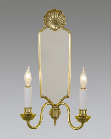 Chippendale Style Shell Design Sconce With Mirror LSFI-35