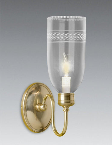 Oval Back Ball Design Sconce With Etched Glass Shade LSFI-3