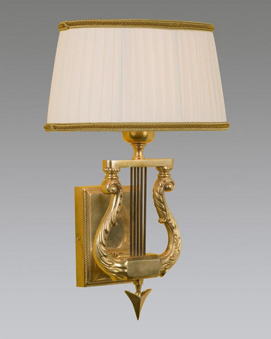 Babric Shade Lyre Design Federal Style Sconce LSFI-45