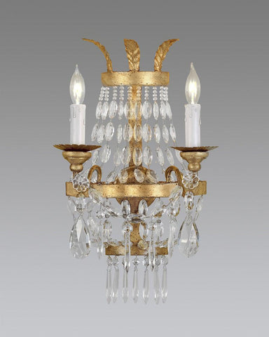 Crystal And Metal Sconce LSFI-53