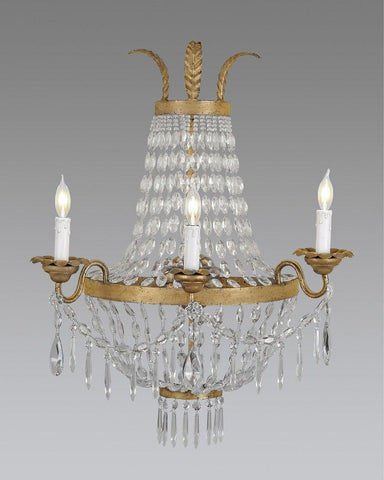 Crystal And Metal Sconce LSFI-54
