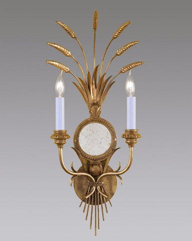 Wheat Design Sconce With Antiqued Mirror LSFI-60
