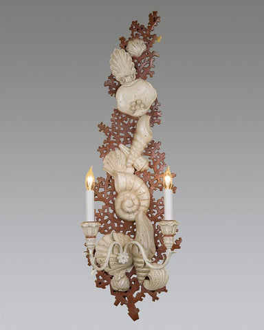 Coral Reproduction Wall Sconce - LSFI-79