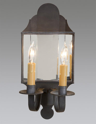 Country style black mirror sconce 2