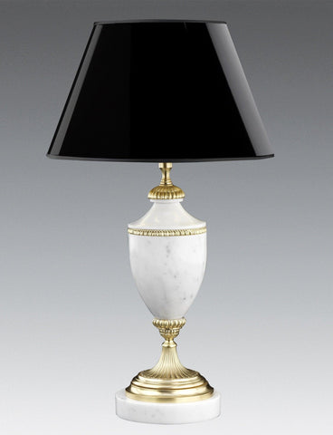 White Marble Table Lamp With Band LTF-40