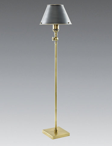 Brass Floor Lamp with Black Bronze Shade LTF-41