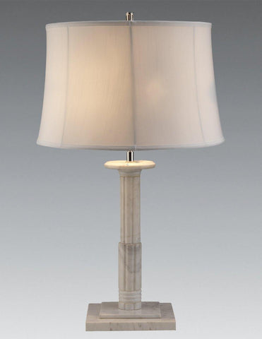 White Marble Greek Column Design Table Lamp LTF-42