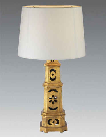 Cast Iron Gold Leaf Pagoda Table Lamp LTF-44
