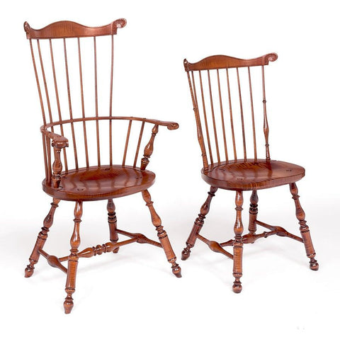 Comb Back Side Chair In The Style Of Lancaster County (pictured to the right) FSW-12
